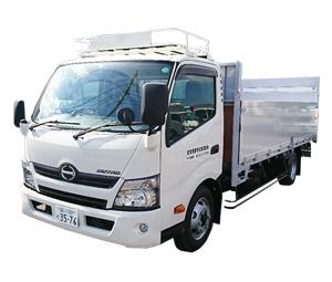 産業廃棄物収集運搬車 4t平ボディー(パワーゲート付)