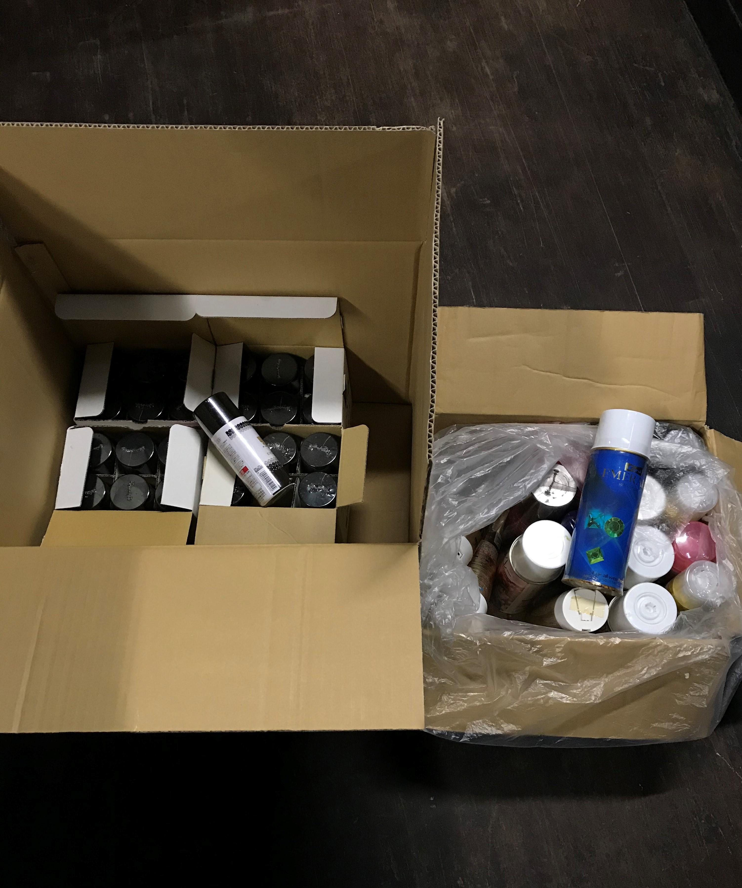 渋谷区理容業スプレー缶回収